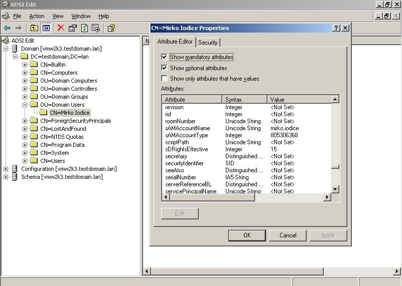 LDAP per Amministratori Active Directory – LDAP for Active